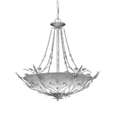 Shadwell 6-Light Crystal Chandelier Finish: Silver Leaf