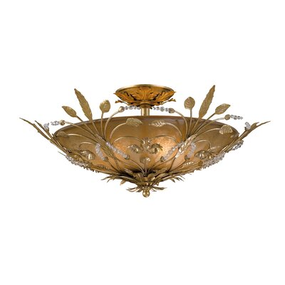 Shadwell 6-Light Semi Flush Mount Finish: Gold Leaf