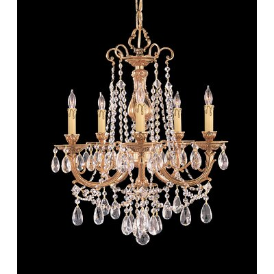 Olde World 5-Light Crystal Chandelier Crystal: Swarovski Strass