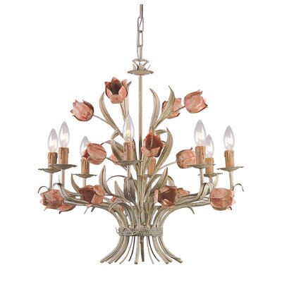 Destinie Traditional 8-Light Candle-Style Chandelier