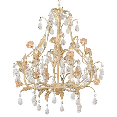 Athena 6-Light Crystal Chandelier