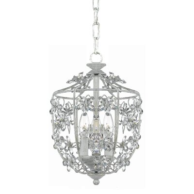 Abbie 3-Light Foyer Pendant Finish: Antique White