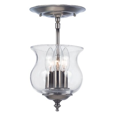 Ryedale 3-Light Semi Flush Mount Finish: Pewter