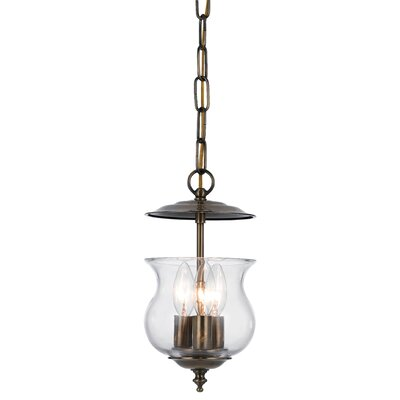 Ryedale 3-Light Foyer Pendant Finish: Antique Brass
