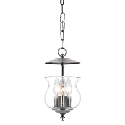 Ascott 3-Light Foyer Pendant Finish: Pewter