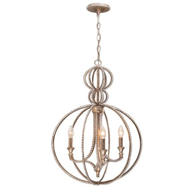 Beaufort Contemporary 3-Light Globe Pendant