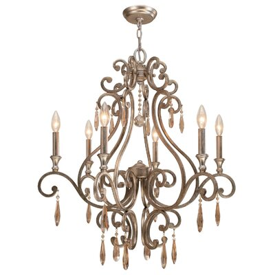 Avon 6-Light Candle-Style Chandelier