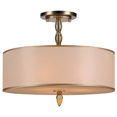 Luxo 3-Light Semi Flush Mount