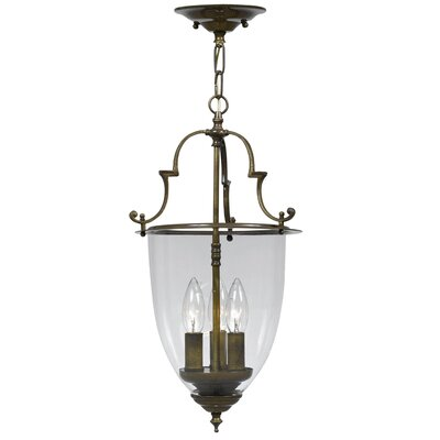 Bell Jar 3-Light Convertible Foyer Pendant