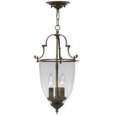 Bell Jar 3-Light Convertible Foyer Pendant