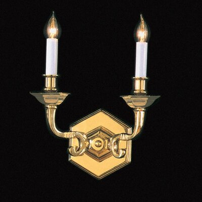 Crystorama Historical Brass Traditional Candle Wall Sconce in ...