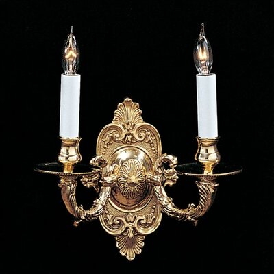 Crystorama Historical BrassTraditional Candle Wall Sconce in ...
