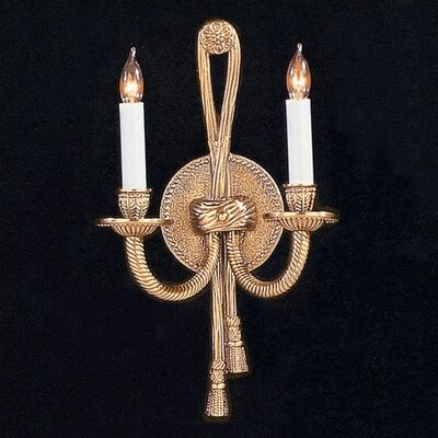 Crystorama Baroque Candle Wall Sconce in Olde Brass | Wayfair