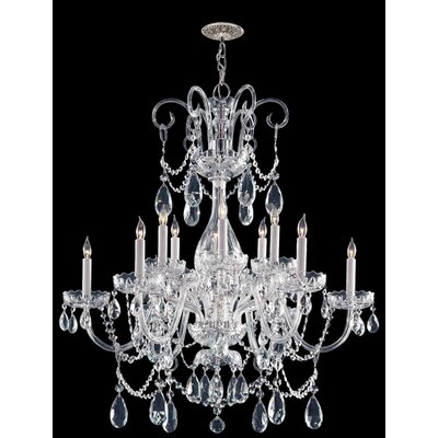 Waterfall Crystal 12-Light Crystal Chandelier Finish: Polished Chrome, Crystal: Swarovski Strass