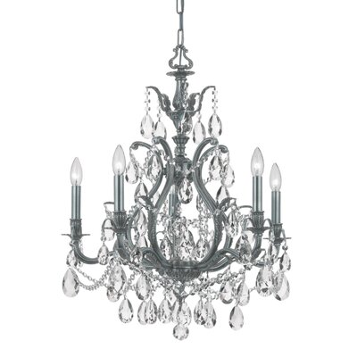 Dawson 5-Light Crystal Chandelier Crystal Type: Swarovski Spectra, Finish: Pewter