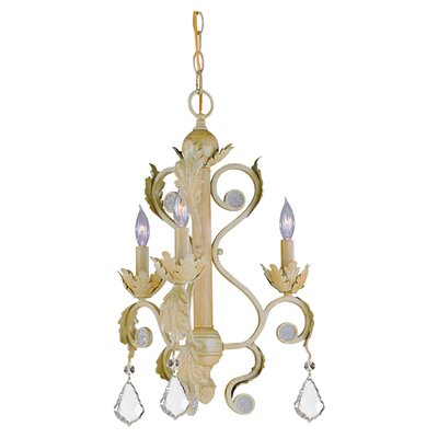 Winslow 3-Light Candle-Style Chandelier Finish: Champagne