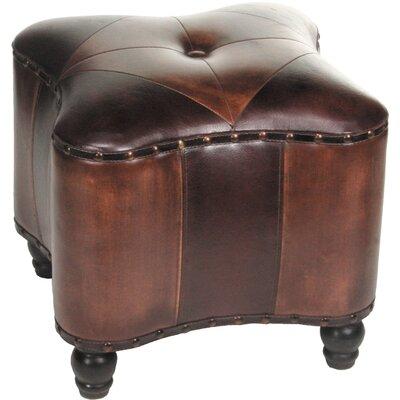 Lisette Leather Ottoman