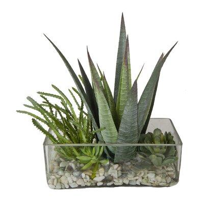 Faux Succulents In Decorative Vase