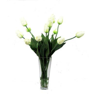 Faux Tulips In Vase
