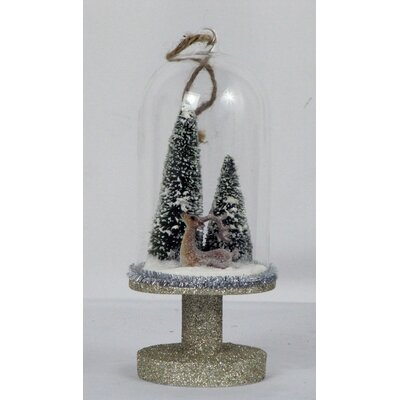 Tree/Reindeer Glass Dome Ornament