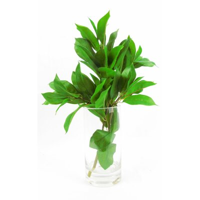 Faux Laurel Leaf Floral Arrangement in Decorative Vase