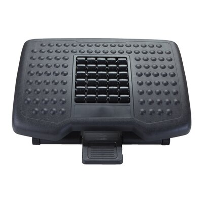Comfy Adjustable Height Foot Rest with Rollers for Massage