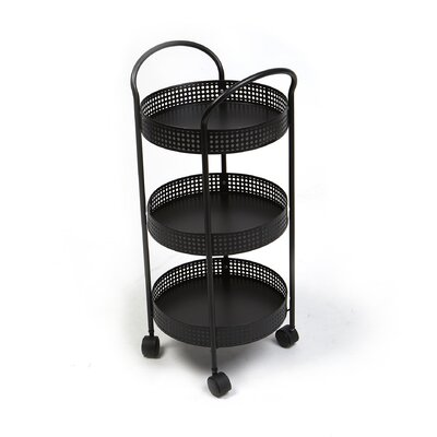 3 Tier Round Trolley for Serving and Holding Ingredients Kitchen Cart