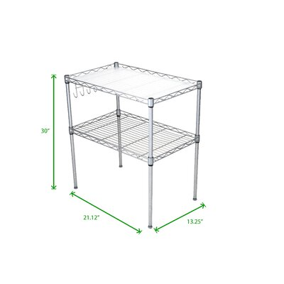 2 Tier Microwave Cart