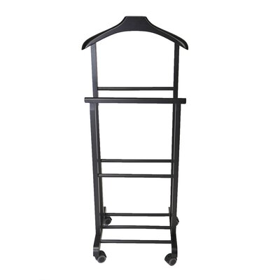 Wood Standing Double Rack Valet Stand