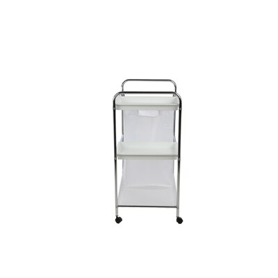 2 Tray Cleaning Mobile Accessory Laundry Cart