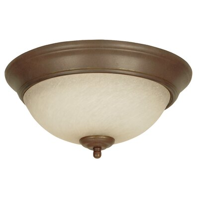 Lorene Flush Mount Size: 15, Color: Aged Bronze