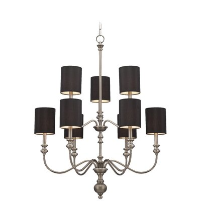 Andr� 9-light Chandelier in Antique Nickel