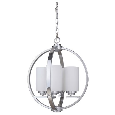Albany 4-Light Foyer Pendant Finish: Chrome