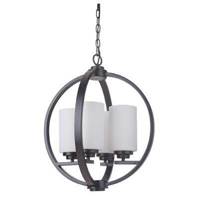 Castagnozzi 4-Light Foyer Pendant Finish: Oiled Bronze