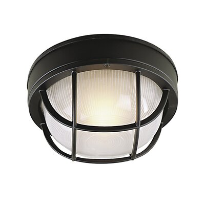 Dwight 1-Light Metal Flush Mount Finish: Matte Black