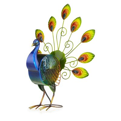 Peacock Large Figurine Table Fan DBF2008
