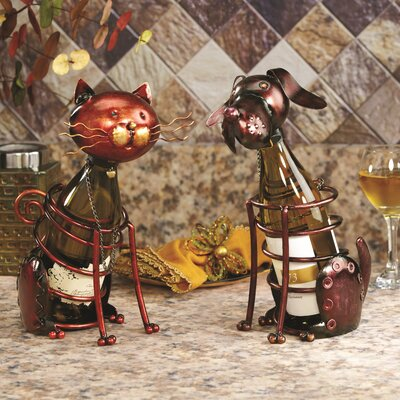 Baham Figurine 1 Bottle Tabletop Wine Rack