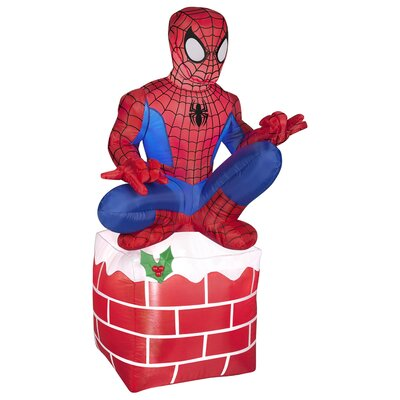 Airblown Inflatables Christmas Holiday Spider Man on Chimney Decoration 88700X