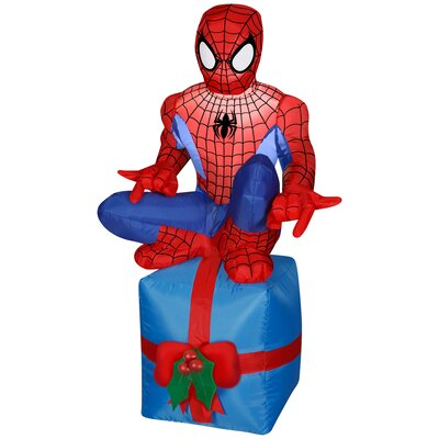 Airblown Spider Man Sitting on Present Small Marvel Inflatable G-88337