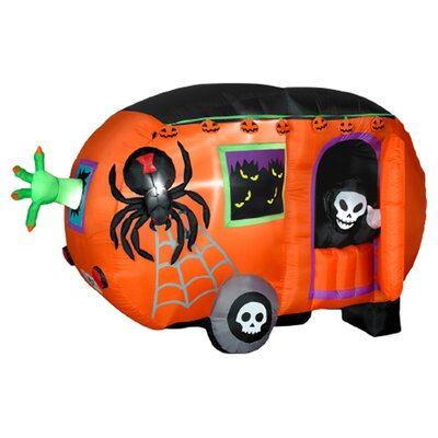 Airblown Animated Halloween Camper Halloween Decoration
