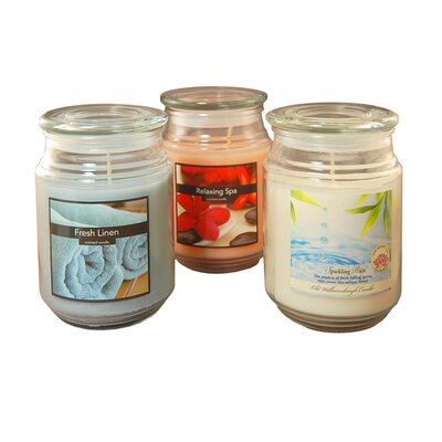 Floral Fresh Linen / Relaxing Spa / Sparkling Rain Jars 27103