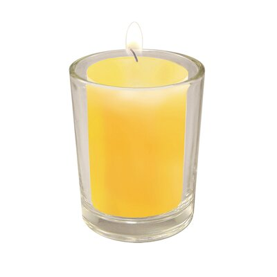 Clear Glass Candle Holders with 36 Citronella Scented Votive Candle Set