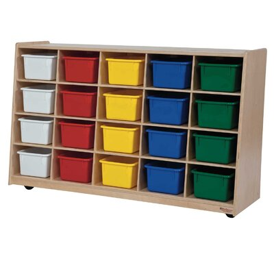 Tip-Me-Not 20 Compartment Cubby with Casters 14583