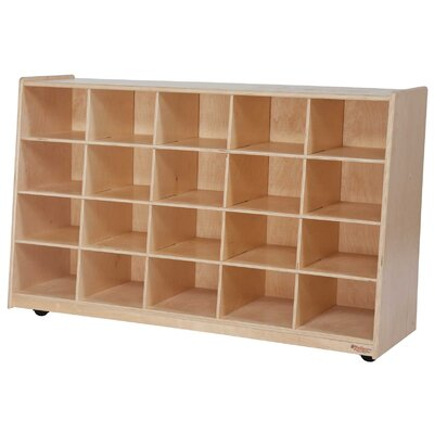 Tip-Me-Not 20 Compartment Cubby with Casters 14589