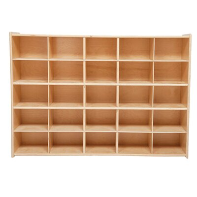 Wood Designs Tray Storage Unit 25 Compartment Cubby - Bin Color: Assorted Tray, Color: Strawberry Red at Sears.com