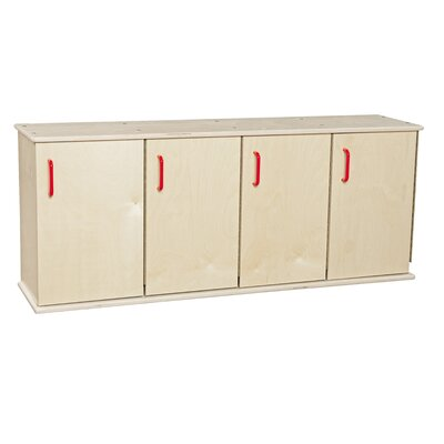 Contender 1 Tier 4 Wide Kids Locker Assembly: Ships Ready to Assemble C46300