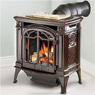 Bayfield Direct Vent Cast Iron Stove Fuel Type: Natural Gas, Color: Porcelain Majolica Brown