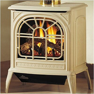 Napoleon Direct Vent Cast Iron Stove Stove Finish: Porcelain Majolica Brown