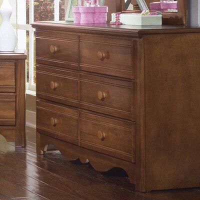 Crossroads Double 6 Drawer Dresser