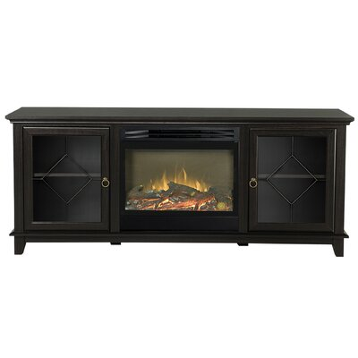 Lotus TV Stand with Electric Fireplace